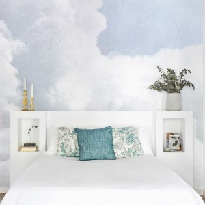 Mural Clouds Light Blue
